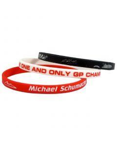 Michael Schumacher 3x Silikon Armband
