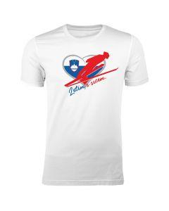Slovenija muška majica Letim s srcem