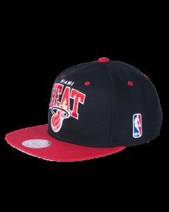 Miami Heat Mitchell & Ness 2 Tone Team Arch Snapback kapa