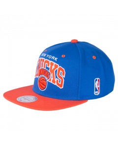 New York Knicks Mitchell & Ness 2 Tone Team Arch Snapback Mütze