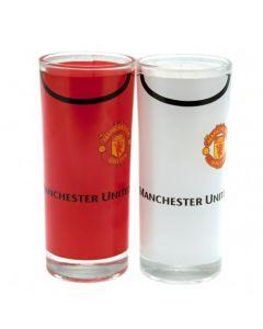 Manchester United 2x Trinkglas