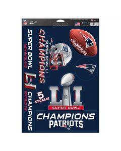 New England Patriots višenamjenske naljepnice Super Bowl LI Champions