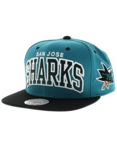 San Jose Sharks Mitchell & Ness 2 Tone Team Arch kapa
