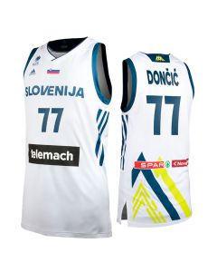 Slowenien Adidas KZS Herren Trikot Home Dončić 77