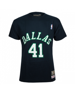 Dirk Nowitzki 41 Dallas Mavericks Mitchell & Ness T-Shirt