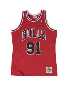 Dennis Rodman 91 Chicago Bulls 1997-98 Mitchell & Ness Swingman dres