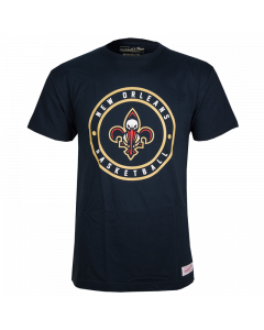 New Orleans Pelicans Mitchell & Ness Circle Patch Traditional T-Shirt