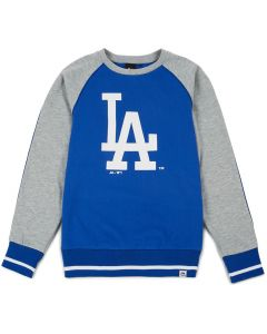 Los Angeles Dodgers Majestic Athletic Raglan Crew Pullover (MLD3778BC)