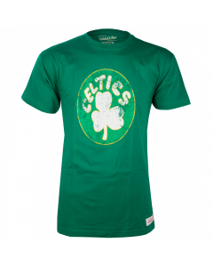 Boston Celtics Mitchell & Ness Distressed HWC Logo T-Shirt