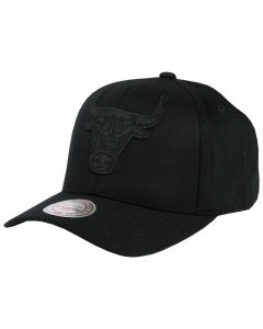 Chicago Bulls Mitchell & Ness Black Flexfit 110 kapa