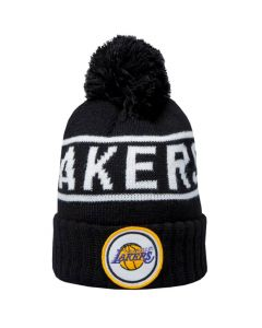 Los Angeles Lakers Mitchell & Ness Glow In The Dark Pom Knit zimska kapa
