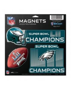 Philadelphia Eagles Super Bowl LII Champions 3x magnet