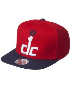Washington Wizards Mitchell & Ness XL Logo 2 Tone kapa