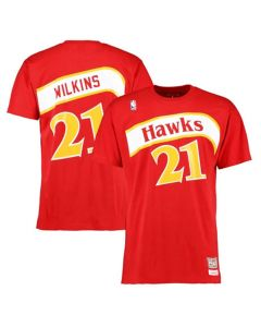 Dominique Wilkins 21 Atlanta Hawks Mitchell & Ness T-Shirt