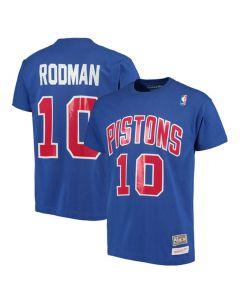 Dennis Rodman 10 Detroit Pistons Mitchell & Ness T-Shirt