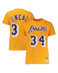 Shaquille O'Neal 34 Los Angeles Lakers Mitchell & Ness T-Shirt