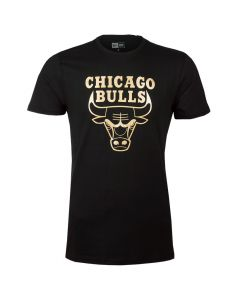 Chicago Bulls New Era Black 'N' Gold Graphic majica (11530771)