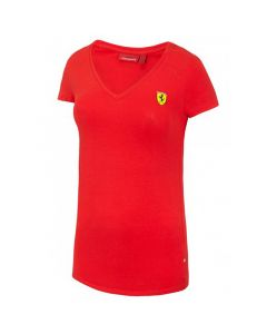Ferrari Damen V-neck T-Shirt