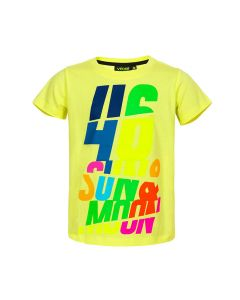 Valentino Rossi VR46 Sun and Moon Lifestyle Kinder T-Shirt (VRKTS324634)