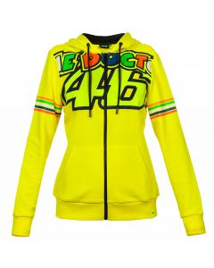 Valentino Rossi VR46 Stripes ženska zip majica sa kapuljačom (VRWFL307201)