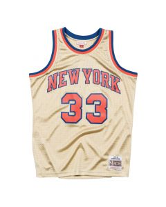 Patrick Ewing 33 New York Knicks 1997 Mitchell & Ness Gold Swingman dres