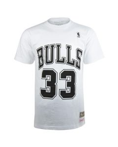 Scottie Pippen 33 Chicago Bulls Mitchell & Ness Black & White T-Shirt