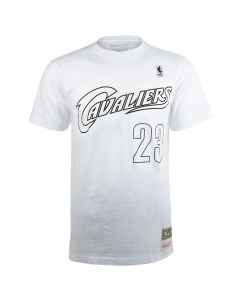 James LeBron 23 Cleveland Cavaliers Mitchell & Ness Black & White T-Shirt