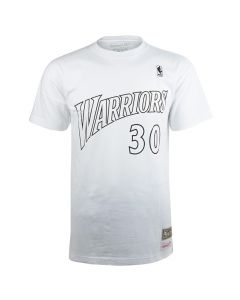 Stephen Curry 30 Golden State Warriors Mitchell & Ness Black & White T-Shirt