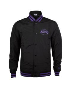 Los Angeles Lakers New Era Team App Pop Logo Varsity Jacke