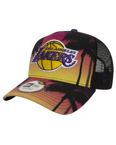 Los Angeles Lakers New Era Coastal Heat Trucker Mütze (80581160)