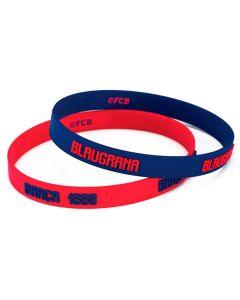 FC Barcelona 2x Kinder Silikon Armband Blaugrana