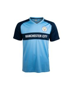 Manchester City V-Neck Panel Kinder Training T-Shirt
