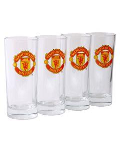 Manchester United 4x Trinkglas