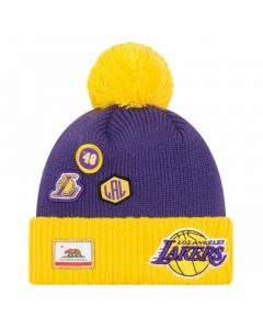 Los Angeles Lakers New Era 2018 NBA Draft Wintermütze