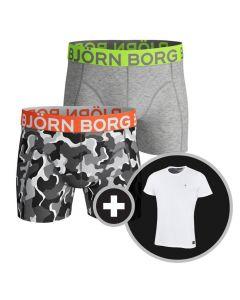 Björn Borg Solid Core Neon Boxershort + GRATIS T-Shirt