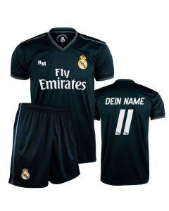 Real Madrid Away Replica Kinder Trikot Komplet Set (Druck nach Wahl)
