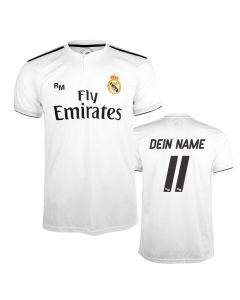 Real Madrid Home Replica Trikot (Druck nach Wahl)