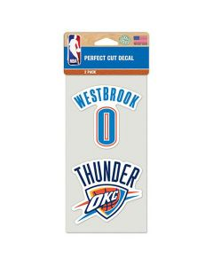 Oklahoma Cithy Thunder 2x nalepka Russell Westbrook