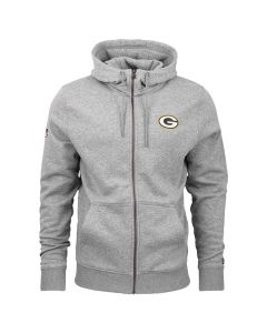 Green Bay Packers New Era Team Apparel Number zip majica sa kapuljačom