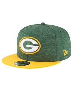Green Bay Packers New Era 9FIFTY 2018 NFL Official Sideline Home kapa