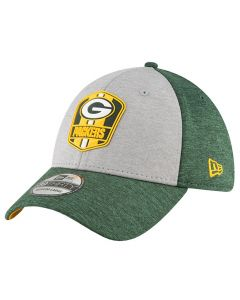 Green Bay Packers New Era 39THIRTY 2018 NFL Official Sideline Road kačket