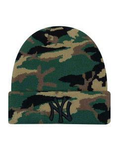 New York Yankees New Era Essential Camo Wintermütze