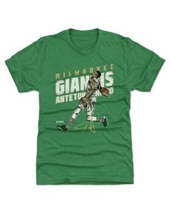 Giannis Antetokounmpo 500 Level Slam D Heather Kelly Green T-Shirt