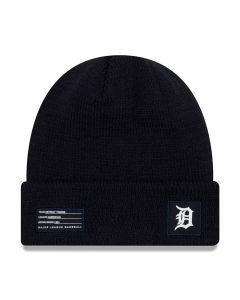 Detroit Tigers New Era 2018 MLB Official On-Field Sport Knit Wintermütze Navy